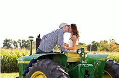 Tractor engagement picture....there are so many on Pinterest!