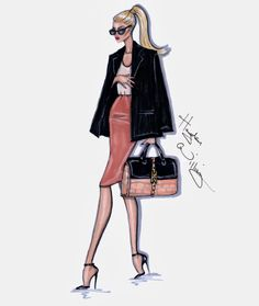 Hayden Williams Fashion Illustrations Style On The Go Coral Cool Moda Fashion, I Love Fashion, Fashion Art, Fashion Models, Fashion Beauty, Fashion Outfits, Fashion Clothes, Hayden Williams, Illustration Mode