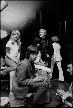 Baby Jane Holzer, Mick Jagger, Peggy Moffitt & Andy Warhol at Holzer's appartment, NYC, Rare Pictures, Cool Pictures, Chrissie Shrimpton, Jean Shrimpton, Baby Jane, Diane Arbus, Faye Dunaway, Vivian Maier, Orson Welles