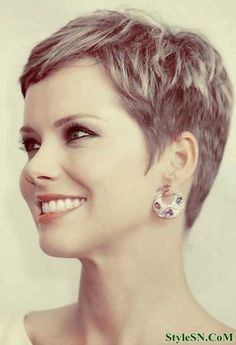 pixie cut thick hair - Google Search                                                                                                                                                                                 More