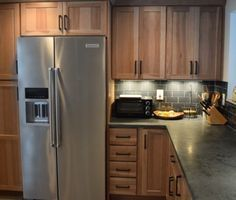 Rustic Industrial Shaker Style Hickory Cabinets By Cabinetry By Karman.