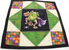 Quilted Table Topper Candle Mat Halloween by GabbysQuiltsNSupply, $15.98