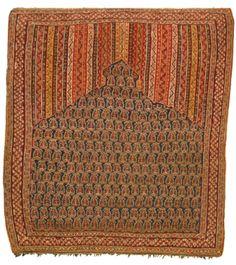 Senna prayer kilim, Northwest Persia approximately by by third quarter century Persian Carpet, Persian Rug, Pattern And Decoration, Geometric Drawing, Fabric Rug, Prayer Rug, Magic Carpet, Tribal Rug, Woven Rug