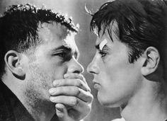 """""""Rocco e i suoi fratelli"""" by Luchino Visconti (1960) - Renato Salvatori & Alain Delon"""