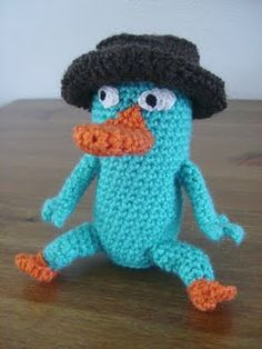 i need a new friend who can knit! or crochet! or whatever this is!  Perry the Platypus