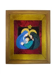 cuadro navideño elaborado en quilting sin aguja