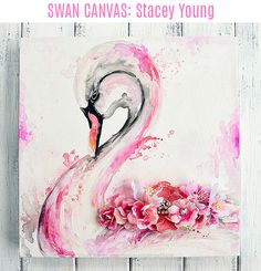 Gracious, long-suffering, and beautiful. This swan project by Stacey represents many who are fighting breast cancer, all done up in the signature colors and adorned with a few flowers.