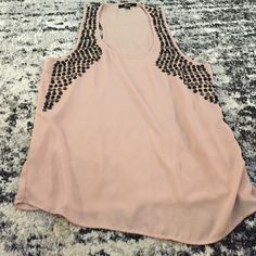 Buckle tank top Sheer pink.  like new. Price negotiable, make me an offer! Tops Tank Tops