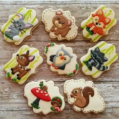 Woodland creatures cookies from Jedibleart.