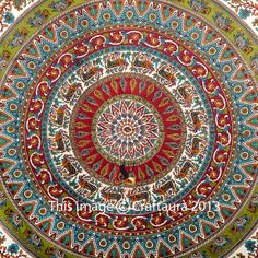 Mandala Tapestry Tapestries Indian Tapestry by CraftAuraHome
