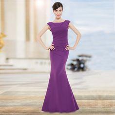 Abendkleid Meerjungfrau Kleid Lila