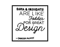 Data and insights