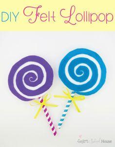 Lollipop: A Cute Felt Craft Tutorial