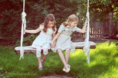 Love this swing! Rough cut and big rope, and made to enjoy together.