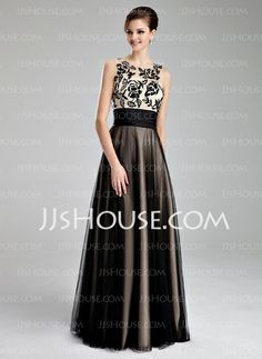 Prom Dresses - $139.79 - A-Line/Princess Scoop Neck Floor-Length Tulle Prom Dress With Ruffle Lace (018019083) http://jjshouse.com/A-Line-Princess-Scoop-Neck-Floor-Length-Tulle-Prom-Dress-With-Ruffle-Lace-018019083-g19083