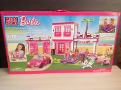 MEGA BLOKS Barbie Build 'n Play FAB BEACH HOUSE 282 pieces #80214, 2013
