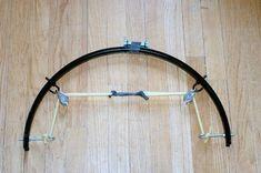 Arco hecho un una rueda de bici tuneado #comohacer #arcos