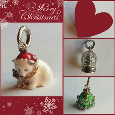 3 New Brighton Christmas Charms 3 New Brighton Christmas Charms.  Polar bear, Christmas tree, and snowglobe. Brighton  Jewelry Bracelets