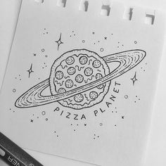 "3,099 Likes, 51 Comments - Peta  (@peta.heffernan) on Instagram: ""Next stop, pizza planet! #pizza #pizzaplanet #toystory #drawing #illustration #sketchbook…"""