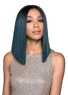 Hair Extensions & Wigs Self-Conscious Wignee 5 Clip In Hair Extension Heat Resistant Synthetic Fiber Mixed Colorful Grey/blue Halloween Hair Piece For Africa American Always Buy Good