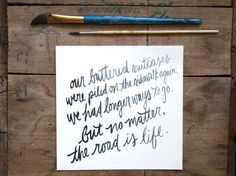jack kerouac on the road travel quote // black and by lostandsound