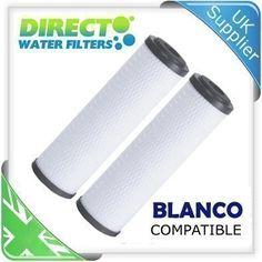 Pack de dos cartuchos para filtros de agua de repuesto compatibles con Blanco