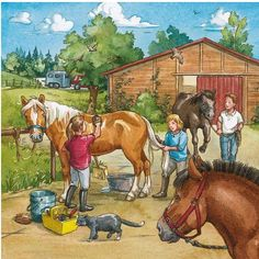 Picture Comprehension, Picture Composition, Farm Art, Hidden Pictures, Horse Portrait, Country Scenes, Farm Theme, Picture Description, Old Barns