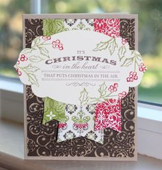 Little Bay Stampin': Christmas in July Week - Day Six: Core'dinations Card - featuring Stampin' Up! #stampinup #christmas