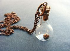 Ladybug Jar Necklace Insect in Miniature Jar on by RustyKeys, $16.00.      ...just add a sprig of tree and i'll take it  :-)  ...