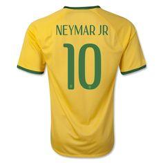 Youth World Cup 2014 Brazil Neymar Jr 10 Home  Soccer Jersey
