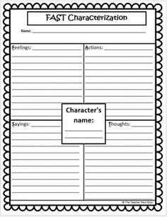 CHARACTERS, SETTINGS AND EVENTS: COMMON CORE FOR 3RD - 5TH GRADES - TeachersPayTeachers.com