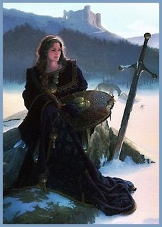 Anna of the Celts by Dean Morrissey. Danu is a goddess of fertility and plenty, equivalent of the Welsh goddess Dôn. Mother of the Irish gods known as the Tuatha Dé Danann (People of the Goddess Danu), there is evidence that the river Danube is named after Her. Alternate names: Ana, Anu, Dana