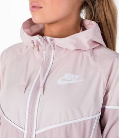 ad49a49904a Detail 1 view of Women s Nike Sportswear Woven Windrunner Jacket in Particle  Rose White Windrunner