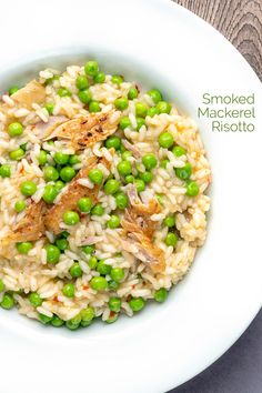 My smoked mackerel risotto gets a sweetness form garden peas which are a great compliment to smokey fish & a hint of spice from chilli flakes.