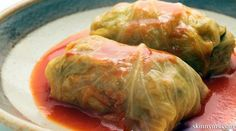 Slow Cooker Stuffed Cabbage Rolls are a delicious and easy to prepare dinner! #skinnyms, #cabbagerolls