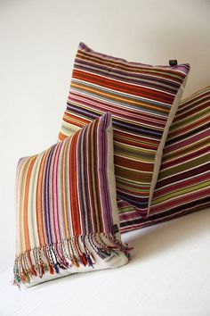 Mexicanhand woven Pantelhó pillows from Maggie Galton, Mexico City Sofa Pillows, Floor Pillows, Throw Pillows, Cushion Covers, Pillow Covers, Pillow Inspiration, Colorful Pillows, Decorative Cushions, Home Decor Furniture