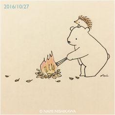1013 お芋焼けた? Has the sweet potato been baked?