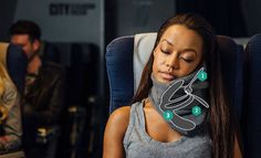 Trtl Pillow is scientifically proven to hold the head in a better ergonomic position during a long-haul flight. Better than a u-shaped travel pillow, it has been strategically designed to prevent stiff neck, sore shoulder and stops the need for you to lean against the airplane for head support during rest.