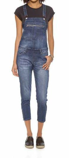 Blank Denim overalls with zipper detail