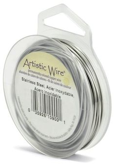 Artistic Wire 20-Gauge, Stainless Steel, 15-Yard - Artistic Wire is the most extensive line of wire for jewelry and crafts. It is great for making jewelry components such as chain maille, beaded chain, jump rings, earwires, and wire wrapped pendants. Artistic Wire Stainless Steel is a Type 304 stainless steel wire does not have any copper. Since ...