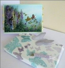 Decoupage Card with Matching One-Piece Box by Sheila Weaver - Joanna Sheen
