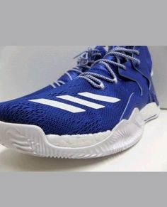 best authentic 0ba7d ee184 Adidas D Rose 7 Boost VII DRose Mens Blue White Basketball Shoes B38922  Size 17 Adidas BasketballShoes