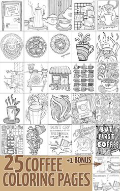 25 Beautiful Coffee Coloring Pages For Grown Ups
