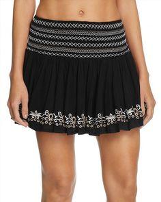68.00$  Buy now - http://vilpa.justgood.pw/vig/item.php?t=bhbh7ub0199 - Surf Gypsy Embroidered Mini Skirt Swim Cover-Up