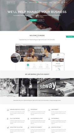 Bridge is one of the powerful, multi-purpose and creative WordPress theme. It is a best selling WordPress theme on ThemeForest. Portfolio Layout, Wordpress Theme, Bridge, Templates, Creative, Blog, Stencils, Bridge Pattern, Blogging