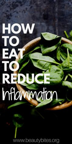 If you want to lose weight, get rid of depression and prevent disease, you might wanna consider changing your diet to get rid of inflammation. Certain foods cause inflammation, but luckily there are also foods that reduce inflammation in the body (aka anti-inflammatory foods). Find out what to eat, what not to eat and how to eat and prepare your food to reduce inflammation and get rid of depression, prevent disease and make weight loss easier! | beautybites.org | Anti-Inflammatory Diet…