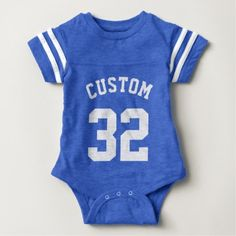 Wrap your little one in custom Sports baby clothes. Cozy comfort at Zazzle! Personalized baby clothes for your bundle of joy. Choose from huge ranges of designs today! Baby Football Outfit, Football Baby, Football Jokes, Custom Sports Jerseys, Baseball Jerseys, Basketball Rules, Baseball Star, Basketball Season, Football Season