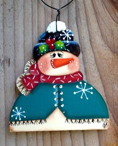Country Snowman 2015 by CountryCharmers on Etsy
