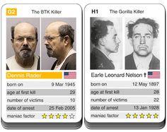 card game Notorious Serial Killers - Dennis Rader versus Earle Leonard Nelson