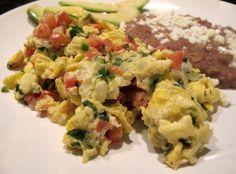 Huevos Revueltos a la Mexicana (Scrambled Eggs, Mexican-style)
